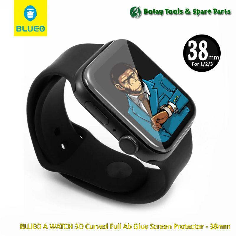 BLUEO A WATCH 3D Curved Full Ab Glue Screen Protector - 38mm