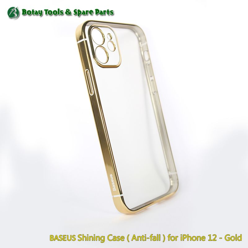 BASEUS Shining Case ( Anti-fall ) for iPhone 12 - Gold