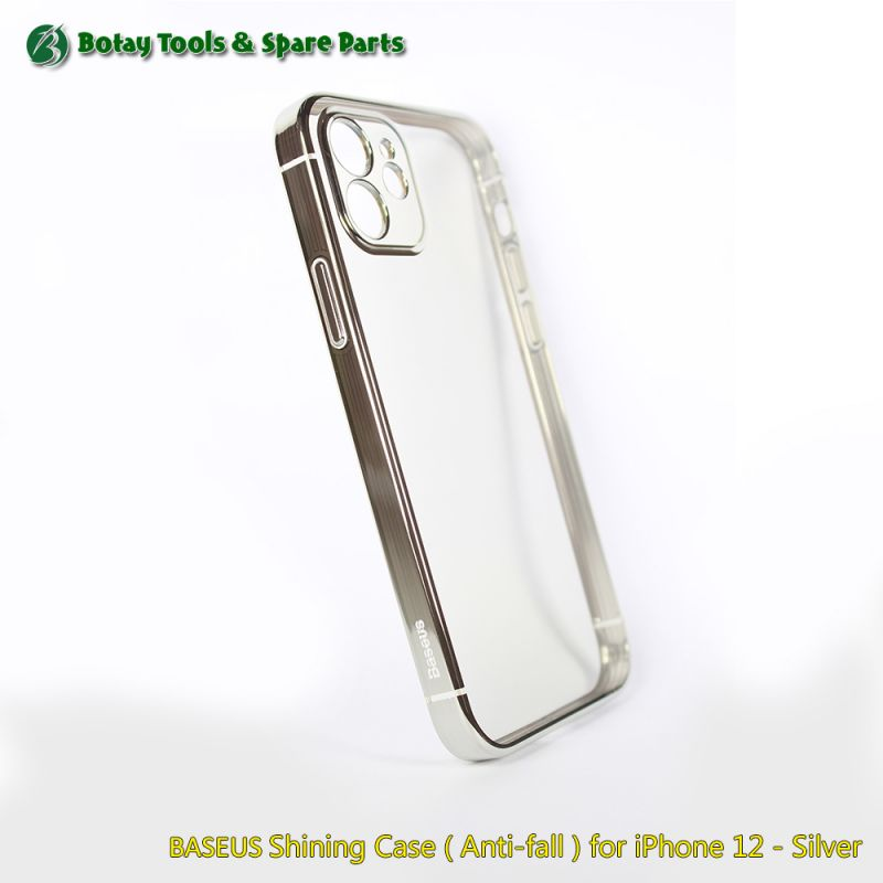 BASEUS Shining Case ( Anti-fall ) for iPhone 12 - Silver