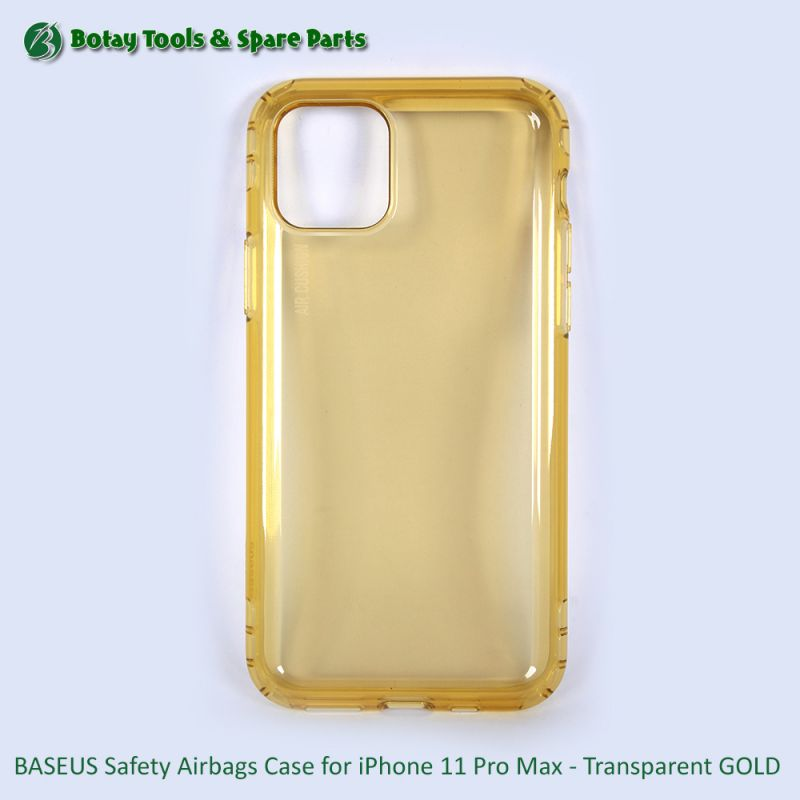 BASEUS Safety Airbags Case for iPhone 11 Pro Max - Transparent GOLD