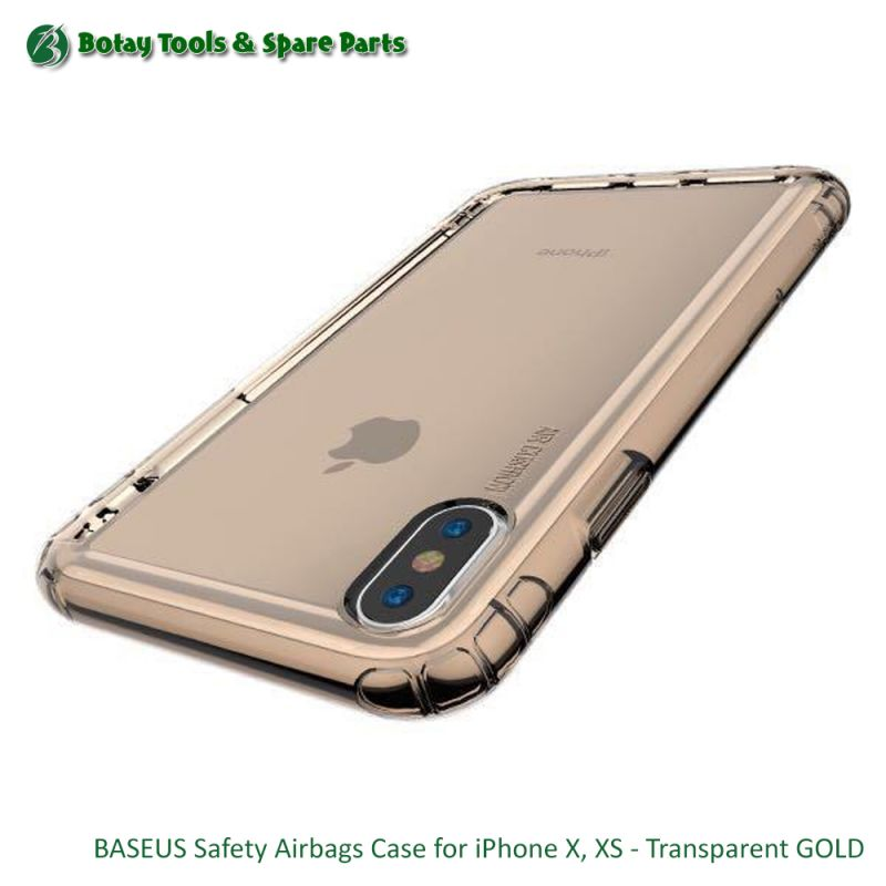 BASEUS Safety Airbags Case for iPhone X, XS - Transparent GOLD