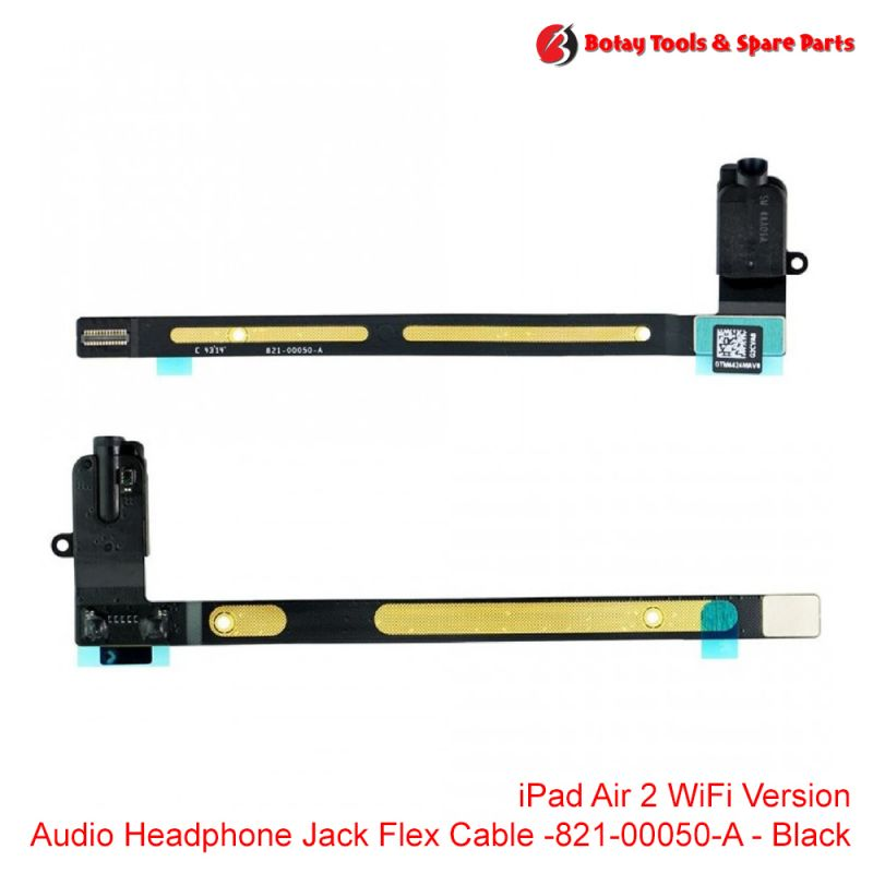 iPad Air 2 #WiFi Version - Audio Headphone Jack Flex Cable #821-00050-A - Black