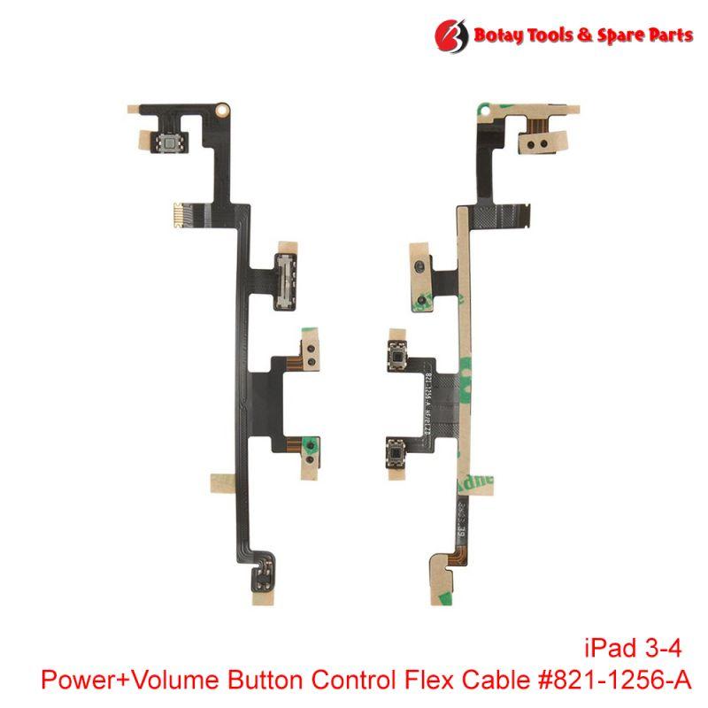 iPad 3-4 Power+Volume Button Control Flex Cable #821-1256-A