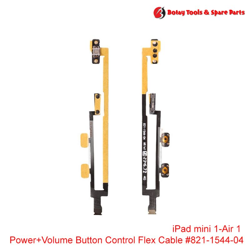 iPad mini 1- iPad Air 1 - Power On/Off and Volume Button Control Flex Cable #821-1544-04
