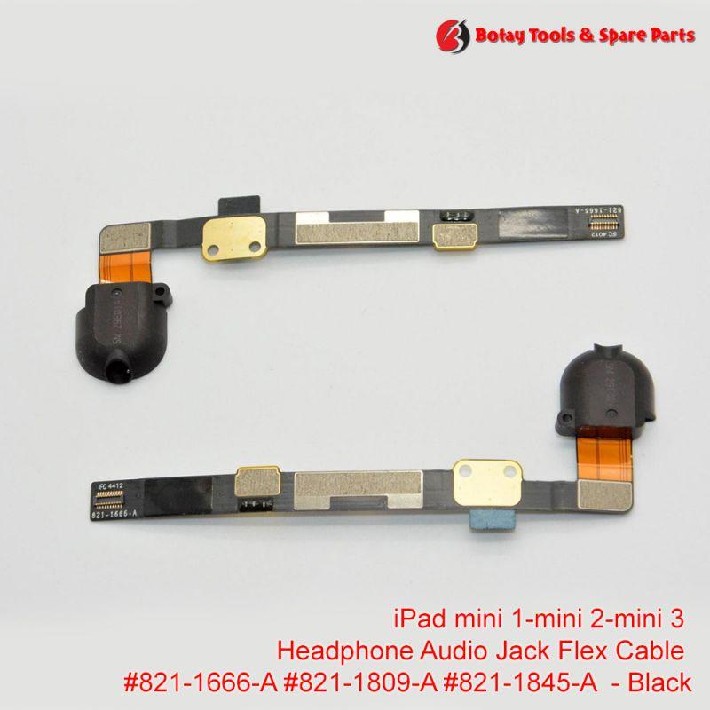 iPad mini 1- iPad mini 2- iPad mini 3 - Audio Headphone Jack Flex Cable #821-1666-A #821-1809-A #821-1845-A - Black