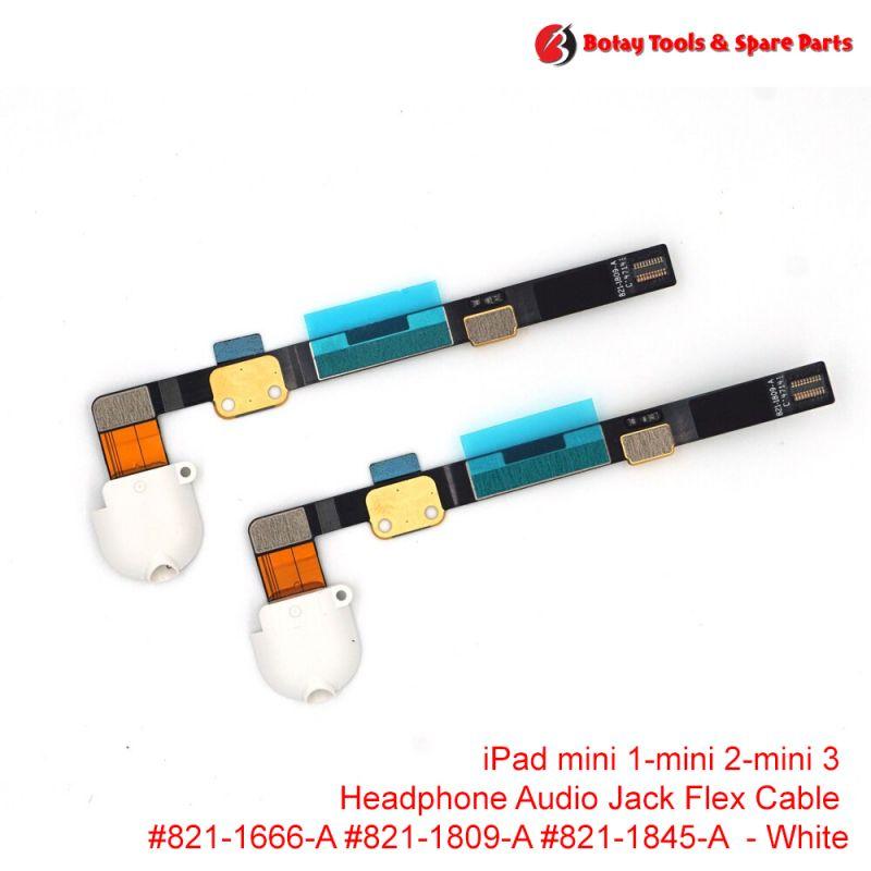 iPad mini 1- iPad mini 2- iPad mini 3 - Audio Headphone Jack Flex Cable #821-1666-A #821-1809-A #821-1845-A - White