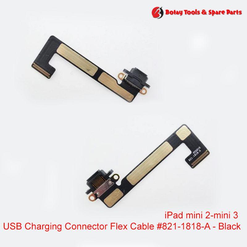 iPad mini 2- iPad mini 3 - Charging Dock Connector Flex Cable #821-1818-A - Black