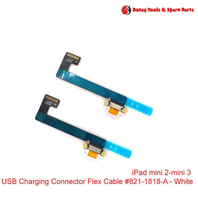 iPad mini 2- iPad mini 3 - Charging Dock Connector Flex Cable #821-1818-A - White