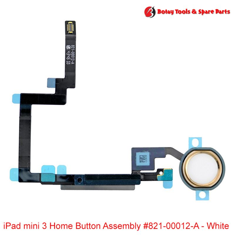 iPad mini 3 Home Button Assembly #821-00012-A - White