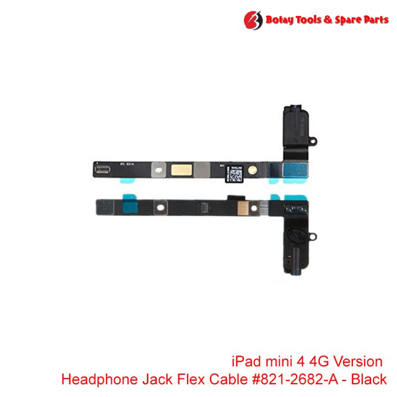 iPad mini 4 #4G Version Audio Headphone Jack Flex Cable #821-2682-A - Black