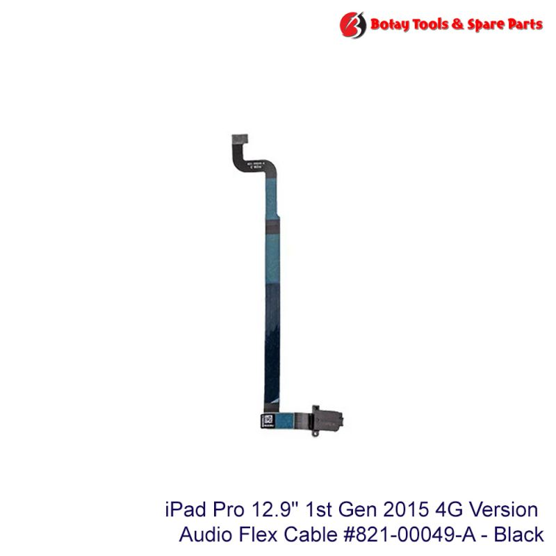 """iPad Pro 12.9"""" 1st Gen 2015 #4G Version - Audio Headphone Jack Flex Cable #821-00049-A - Black"""