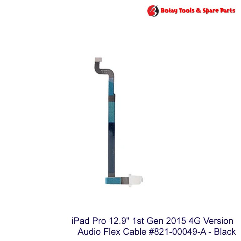"""iPad Pro 12.9"""" 1st Gen 2015 #4G Version - Audio Headphone Jack Flex Cable #821-00049-A - White"""