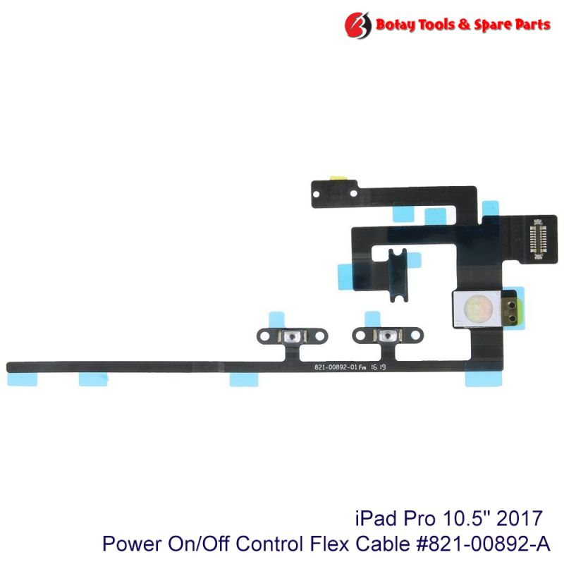 """iPad Pro 10.5"""" 2017 Power On/Off Control Flex Cable #821-00892-A"""