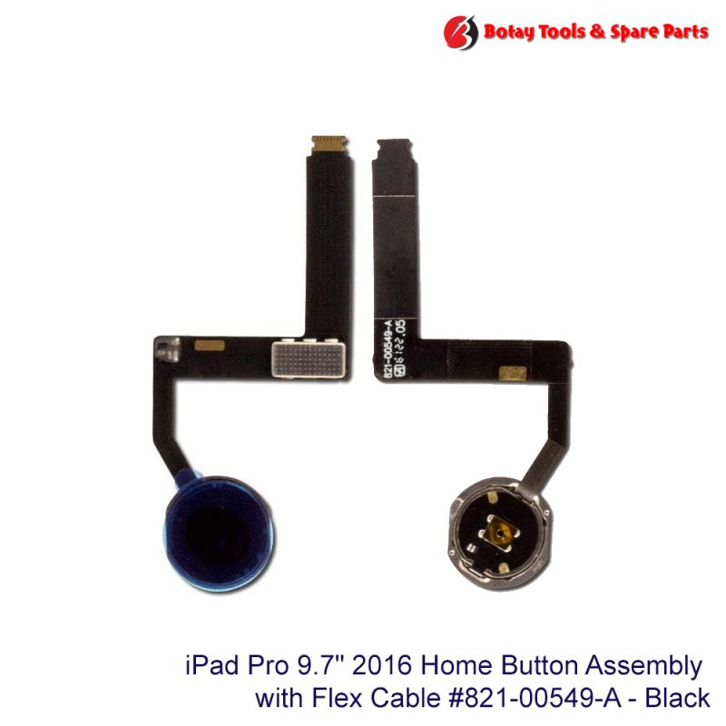 """iPad Pro 9.7"""" 2016 Home Button Assembly #821-00549-A - Black"""