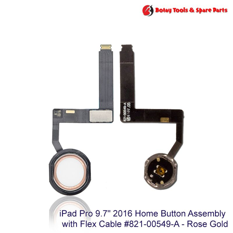 """iPad Pro 9.7"""" 2016 Home Button Assembly #821-00549-A - Rose Gold"""