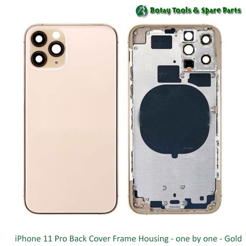 iPhone 11 Pro Back Cover Frame Housing - one by one - Gold