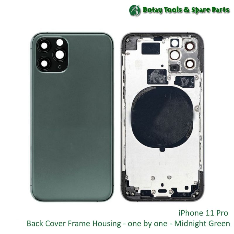 iPhone 11 Pro Back Cover Frame Housing - one by one - Midnight Green