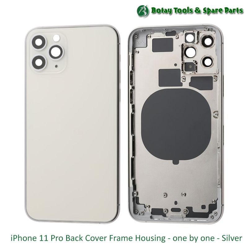 iPhone 11 Pro Back Cover Frame Housing - one by one - Silver