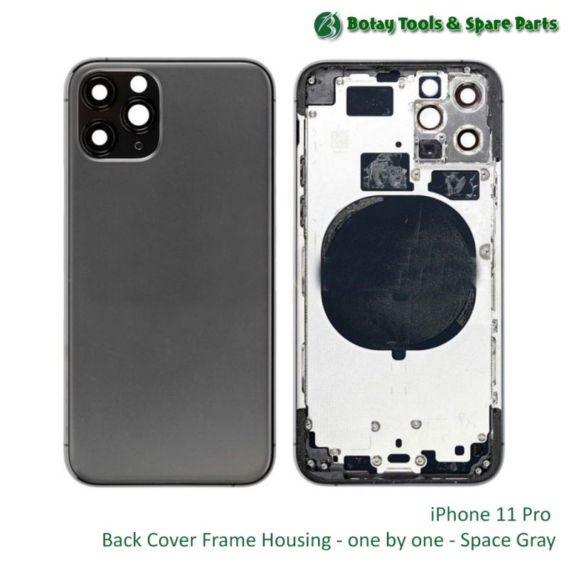 iPhone 11 Pro Back Cover Frame Housing - one by one - Space Gray