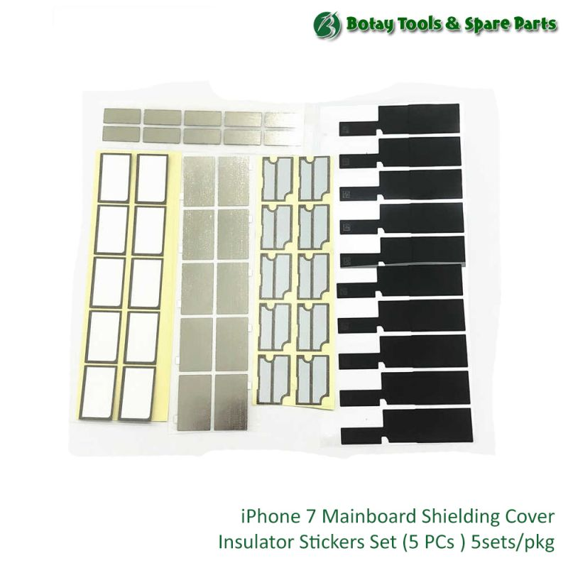 iPhone 7 Mainboard Shielding Cover Insulator Stickers Set ( 5 items ) 5sets/pkg