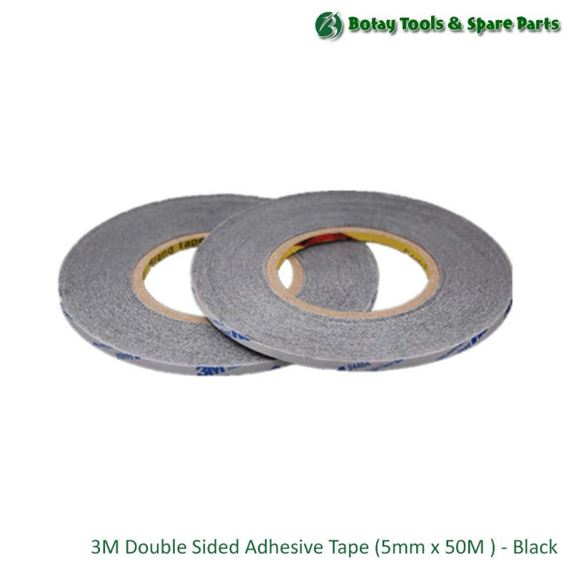 3M Double Sided Adhesive Tape (5mm x 50M ) - Black