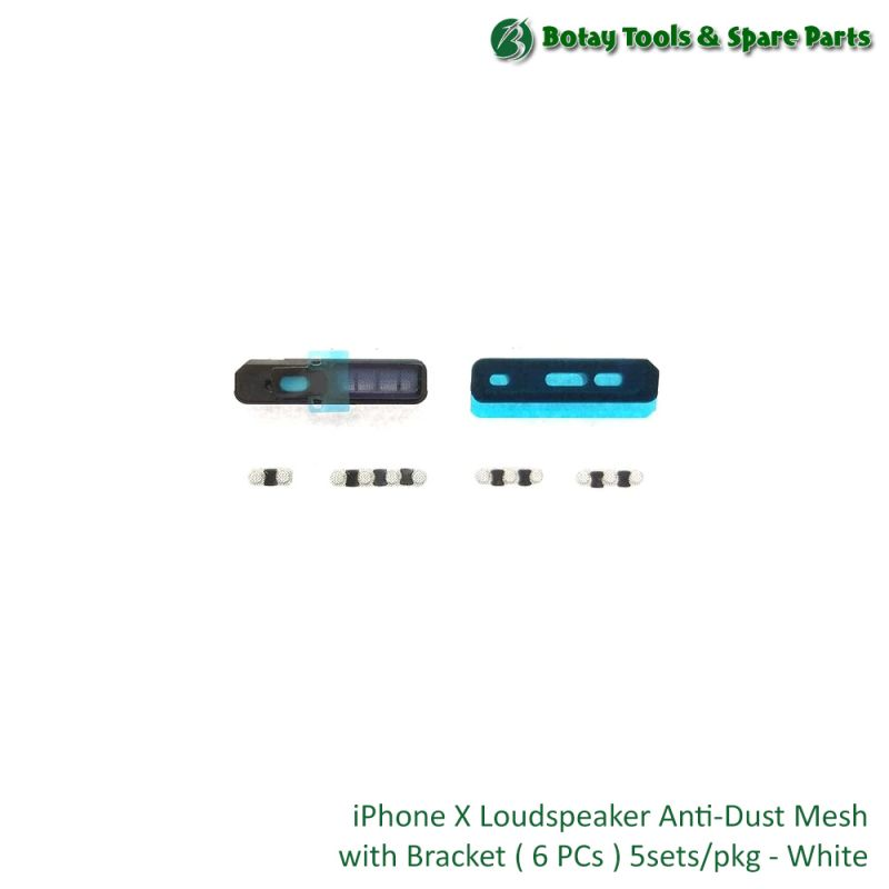 iPhone X Loud Speaker Anti-Dust Mesh with Bracket ( 6 items ) 5 sets/pkg - White