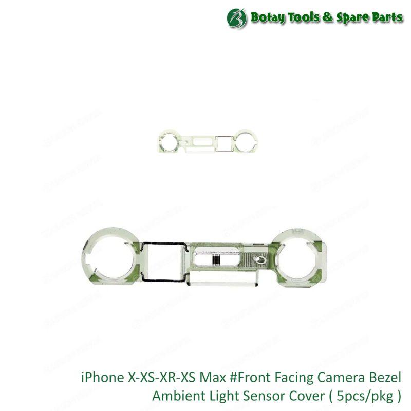 iPhone X-XS-XR-XS Max #Front Facing Camera Bezel Ambient Light Sensor Cover ( 5pcs/pkg )
