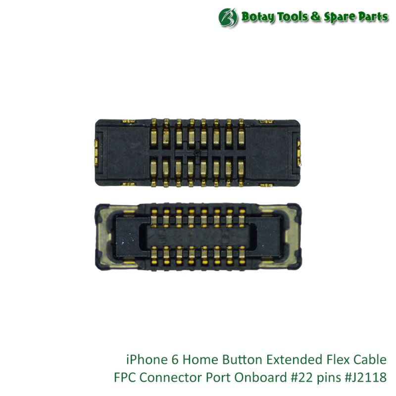 iPhone 6 Home Button Extended Flex Cable FPC Connector Port Onboard #22 pins #J2118