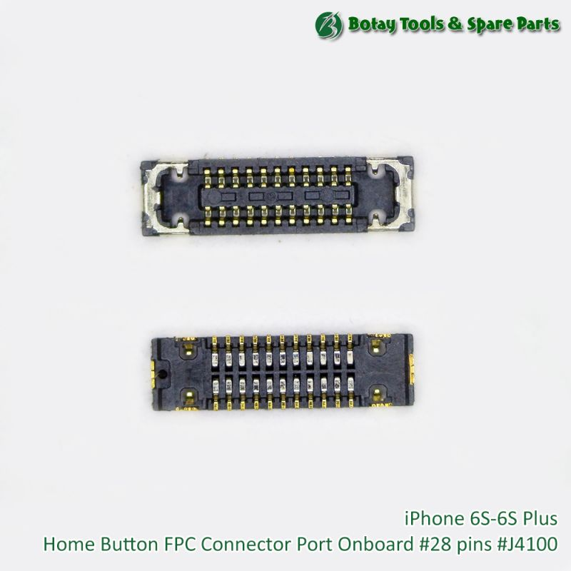 iPhone 6S-6S Plus Home Button FPC Connector Port Onboard #28 pins #J4100