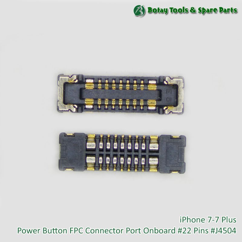 iPhone 7-7 Plus Power Button FPC Connector Port Onboard #22 Pins #J4504
