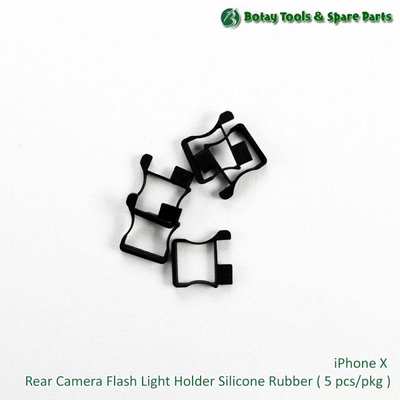 iPhone X Rear Camera Flash Light Holder Silicone Rubber ( 5 pcs/pkg )