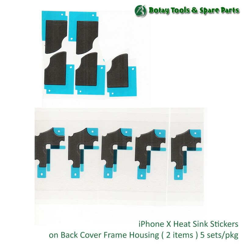 iPhone X Heat Sink Stickers on Back Cover Frame Housing ( 2 items ) 5 sets/pkg