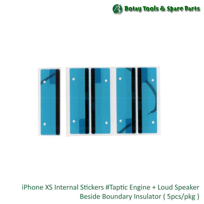 iPhone XS Internal Stickers #Taptic Engine + Loud Speaker Beside Boundary Insulator ( 5pcs/pkg )