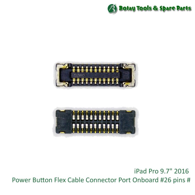 """iPad Pro 9.7"""" 2016 Power Button Flex Cable Connector Port Onboard #26 pins #"""