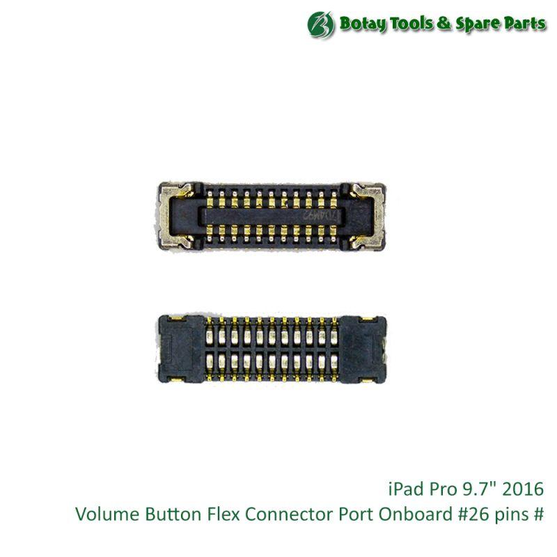"iPad Pro 9.7"" 2016 Volume Button Flex Connector Port Onboard #26 pins #"