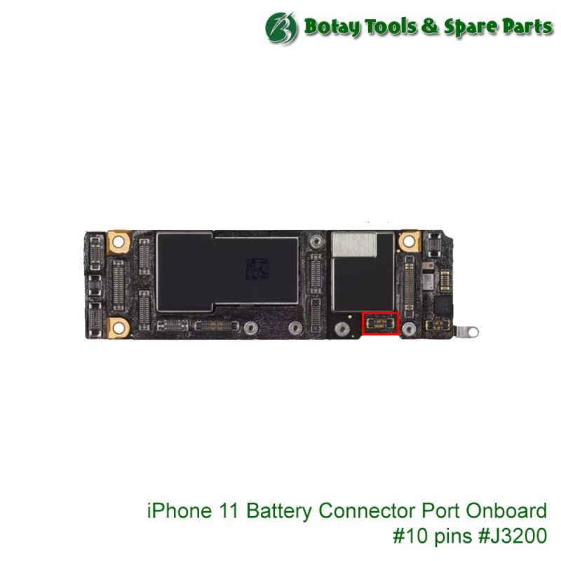 iPhone 11-11 Pro-11 Pro Max Battery Connector Port Onboard #10 pins #J3200 #