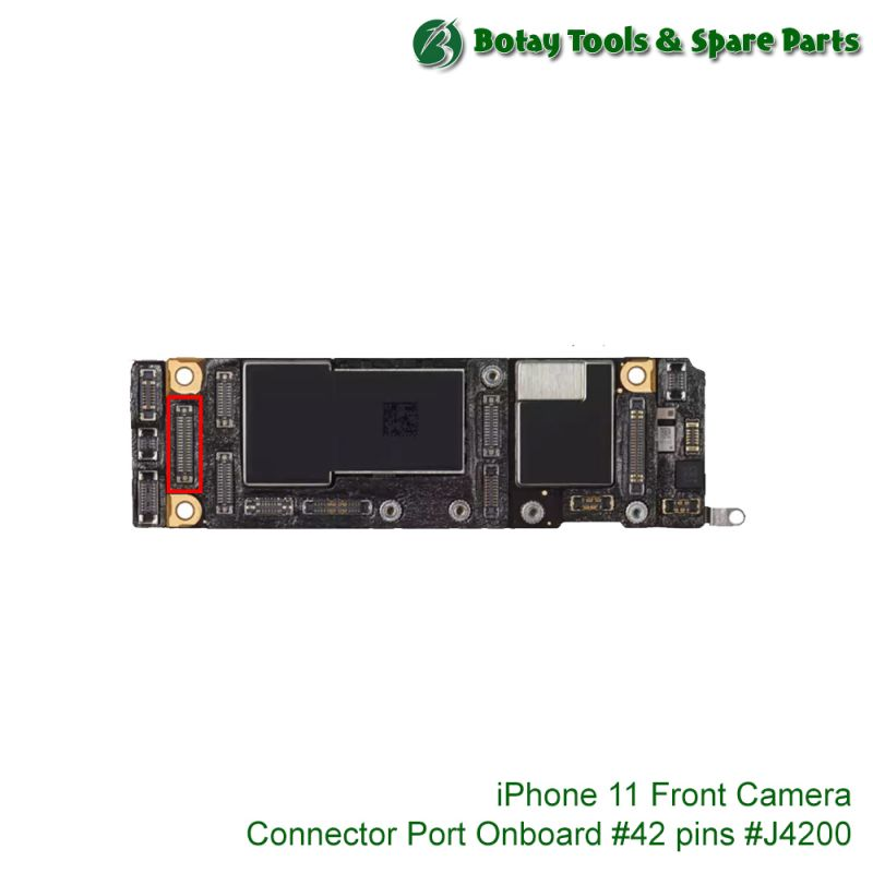 iPhone 11-11 Pro-11 Pro Max Front Camera FPC Connector Port Onboard #42 pins #J4200 #