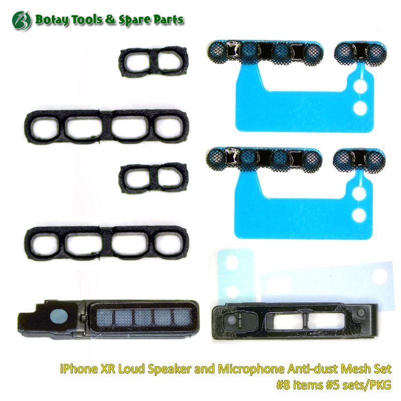 iPhone XR Loud Speaker and Microphone Anti-dust Mesh Set #8 items #5 sets/PKG