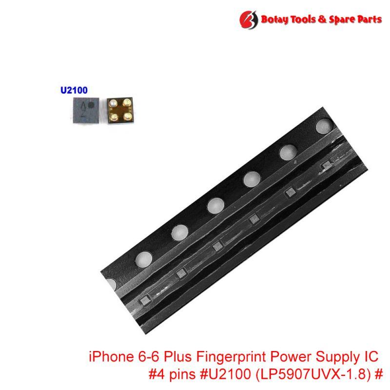 iPhone 6-6 Plus Fingerprint Power Supply IC #4 pins #U2100 #LP5907UVX-1.8# #