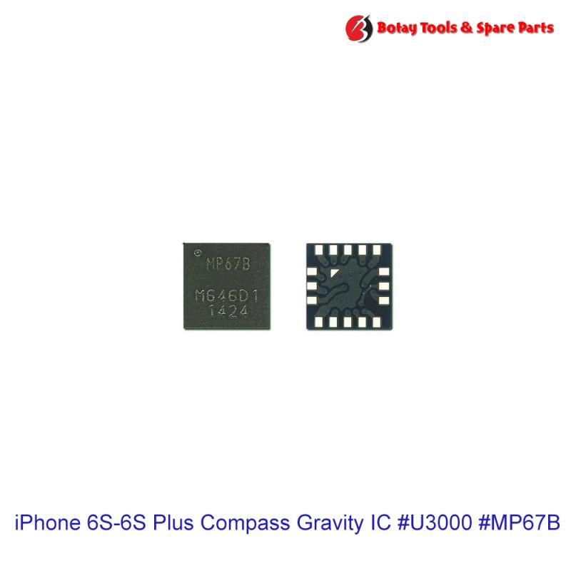 iPhone 6-6S Plus Gyroscope Accelerometer Compass Gravity IC #16 pins #U2203-U3010 #MPU-6700-12-COMBO #MP67B
