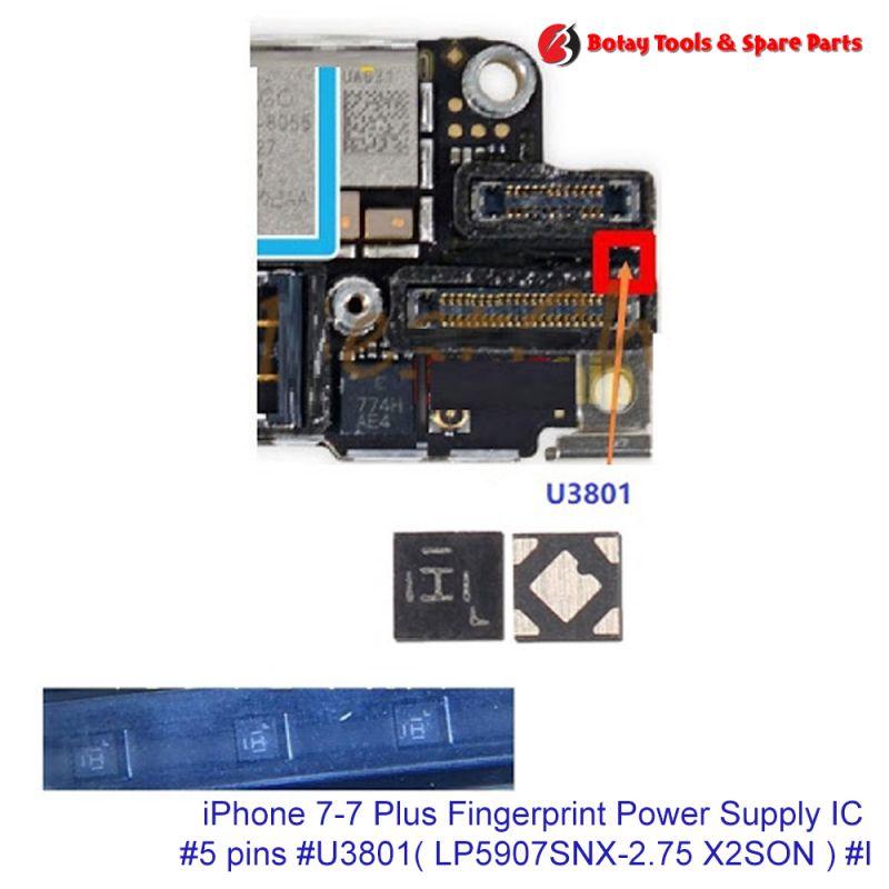 iPhone 7-7 Plus Fingerprint Power Supply IC #5 pins #U3801# LP5907SNX-2.75 X2SON  #I