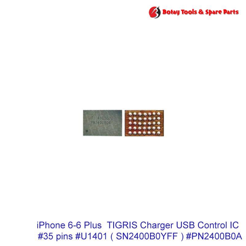iPhone 6-6 Plus  TIGRIS Charger USB Control IC #35 pins #U1401 # SN2400B0YFF  #PN2400B0A