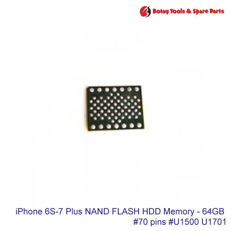 iPhone 6S-7 Plus NAND FLASH HDD Memory - 64GB #70 pins #U1500 U1701