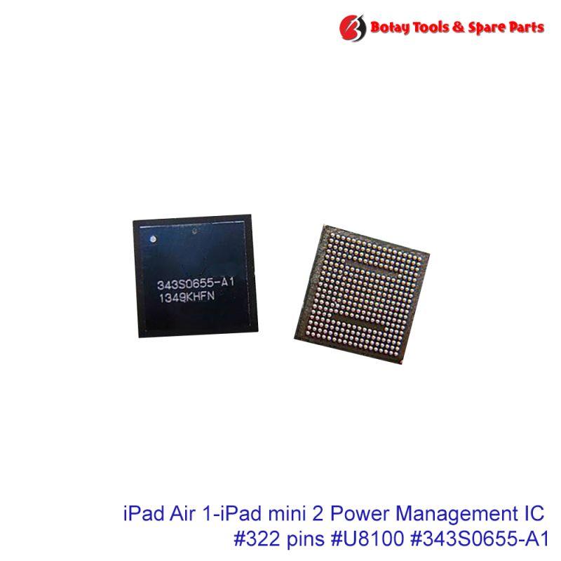 iPad Air 1-iPad mini 2 Power Management IC #322 pins #U8100 # #343S0655-A1