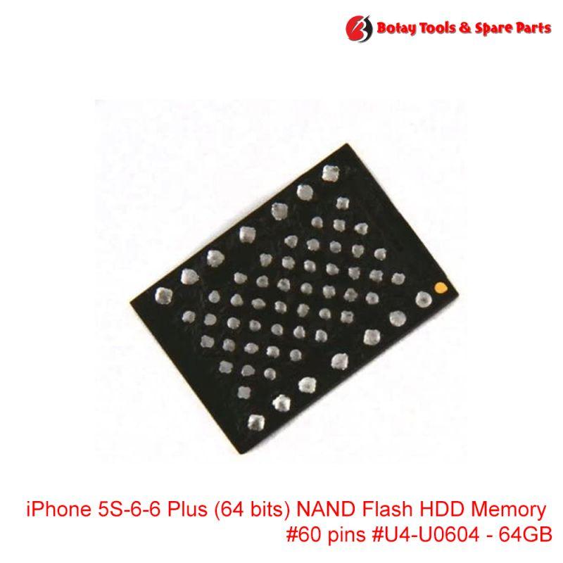 iPhone 5S-6-6 Plus (64 bits) NAND Flash HDD Memory ( 64GB ) #60 pins #U4-U0604 # #