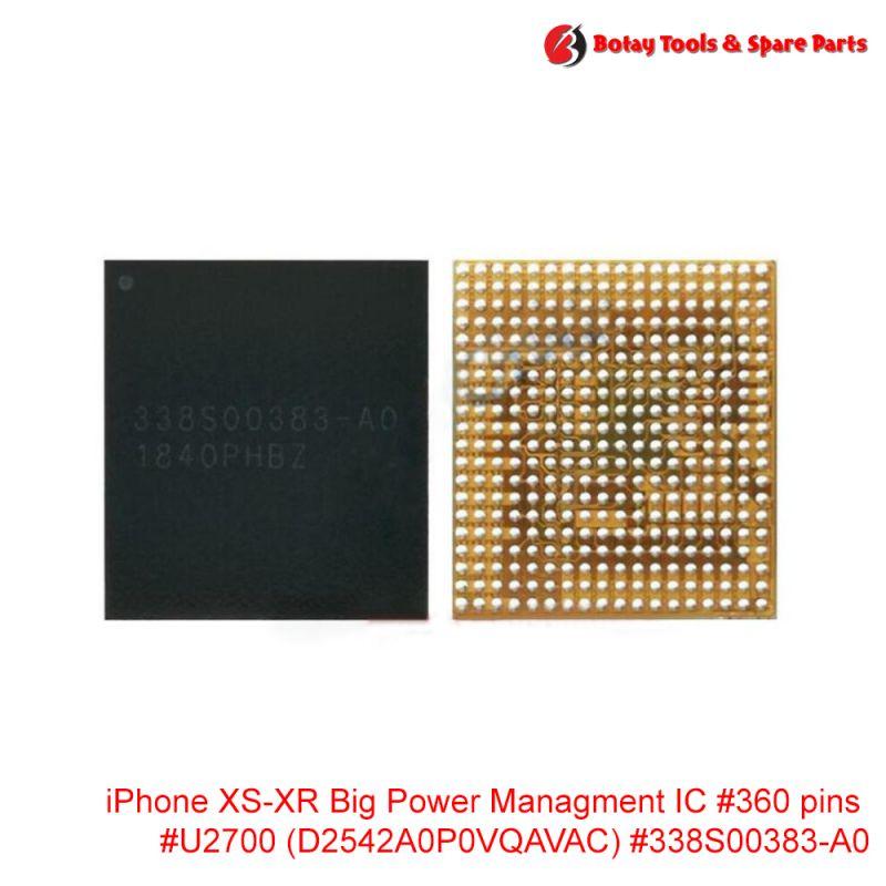 iPhone XS-XR Big Power Managment IC #360 pins #U2700 #D2542A0P0VQAVAC #338S00383-A0