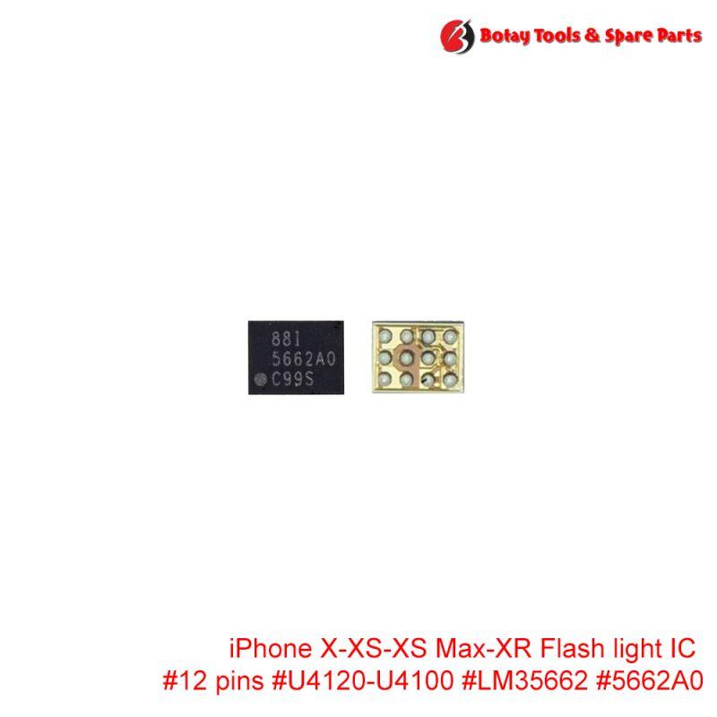 iPhone X-XS-XS Max-XR Flash light IC #12 pins #U4120 U4100 #LM35662 LM3566 #5662A0 566A0
