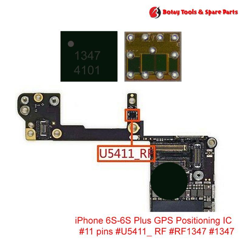iPhone 6S-6S Plus GPS Positioning IC #11 pins #U5411_ RF #RF1347 #1347