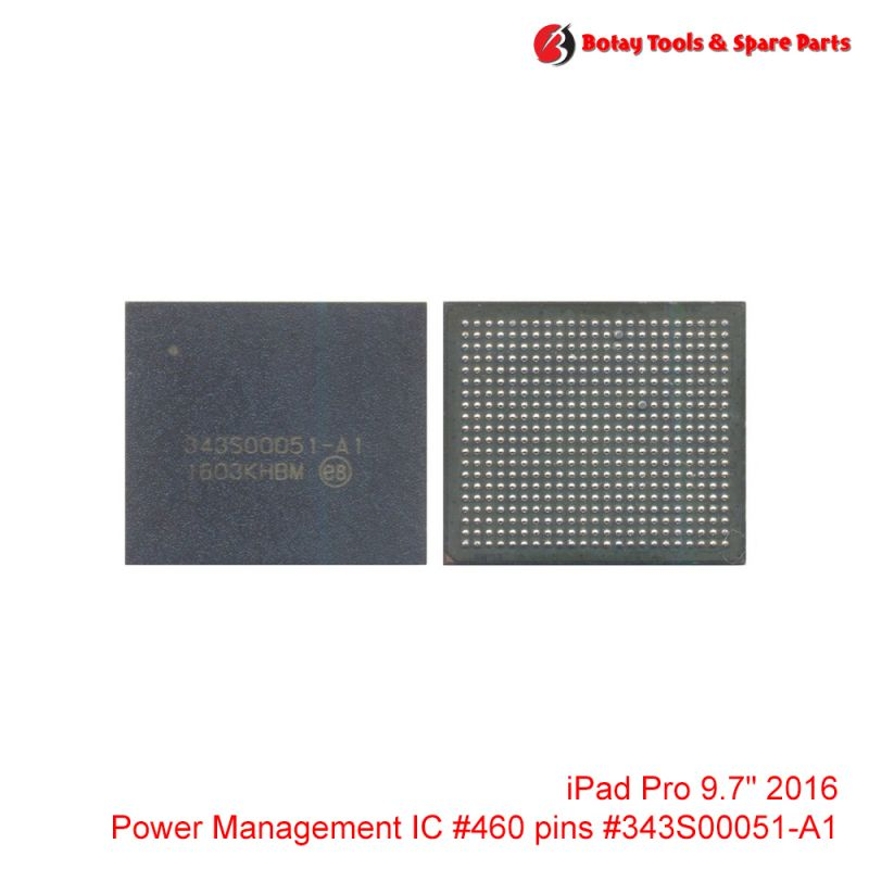 """iPad Pro 9.7"""" 2016 Power Management IC #460 pins # # #343S00051-A1"""