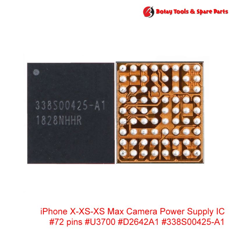 iPhone X-XS-XS Max Camera Power Supply IC #72 pins #U3700 #D2642A1 #338S00425-A1